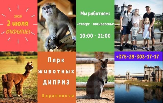 Открытие парка животных Диприз в Барановичах