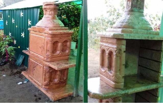 Мангал для шашлыка бетонный